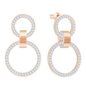 Swarovski Crystal Rose Gold Plating Earrings
